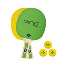 DONIC Schildkröt Ping Pong Set, 2x raquettes, 3 balles